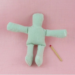 Musslin doll, rag doll, decoration 12 cm.