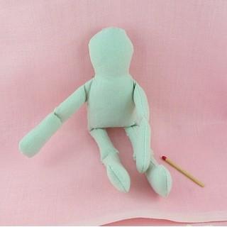 Tissu Feutre beige rosé, corps et tête de poupée