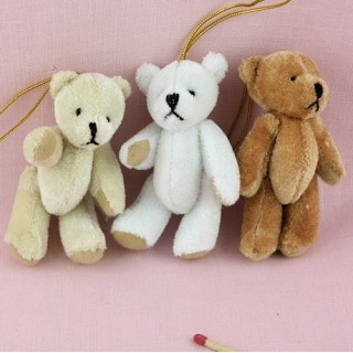 Small plush Bear jointed 7 cms