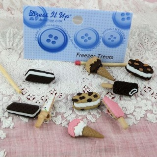 Chocolate freezer treats Dress it up buttons