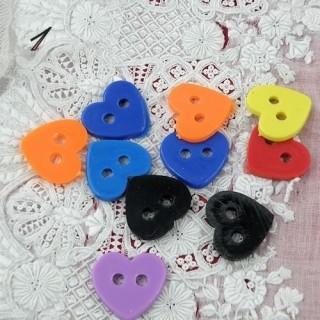 10 Boutons coeurs grandes tailles petit prix