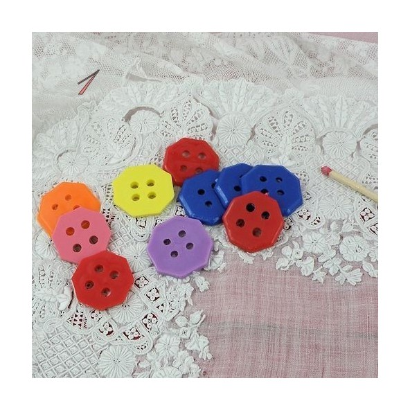 Big sized plastics octogone buttons two holes,