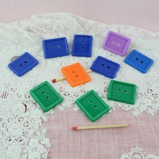 Big sized plastics rectangle buttons two holes,