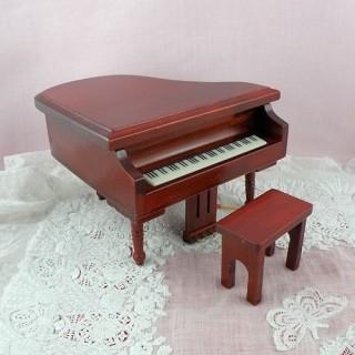 Piano à queue miniature maison de poupée
