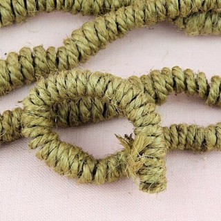 Bag of Jute small curly hair for doll