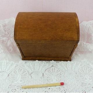Koffer Miniaturholz 1/12 Puppenhaus.