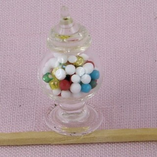 Candy in jar miniature 1/12 glass