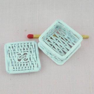 Boite métal tressé rangement miniature