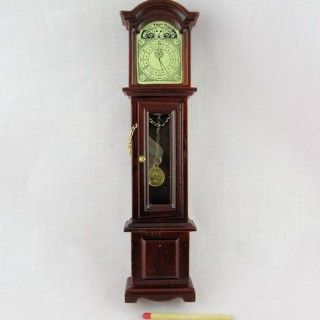 Uhr Miniaturparkettgroßvater Puppenhaus