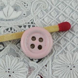Bouton rond  bois 4 trous 10 mm, 1 cm.