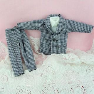 Traje muñeca 1/12 ropas miniatura muñeca casa 1/12ème