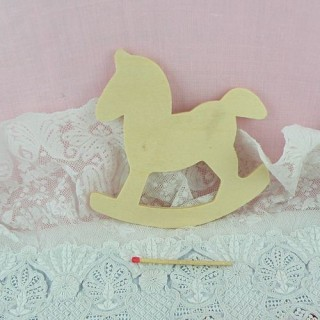 Wood cutout rocking horse 9cms