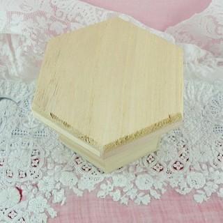 Boite bois hexagonale à décorer