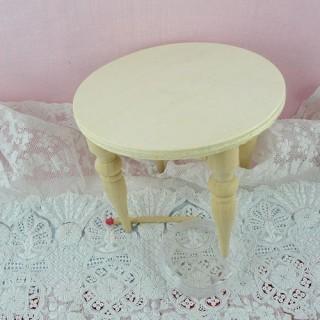 Table ronde meuble miniature maison de poupée
