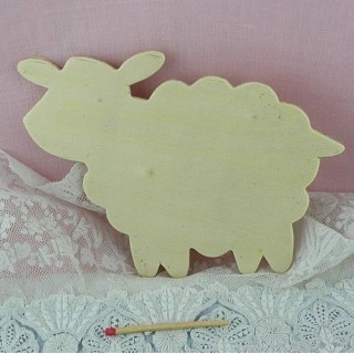 Wooden row cutout sheep 8 cms