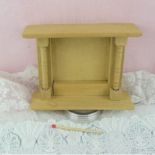 Chimenea miniatura madera casa muñeca.