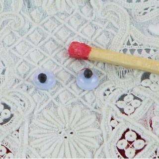 Ojos móviles que deben clavarse 4 mm.
