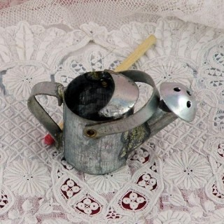 Miniature used tin watering can 25 mms hight