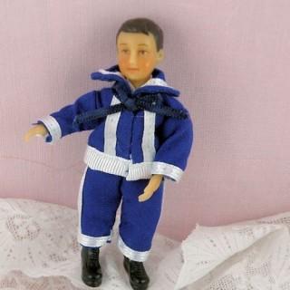 Poupée miniature 1/12 marin