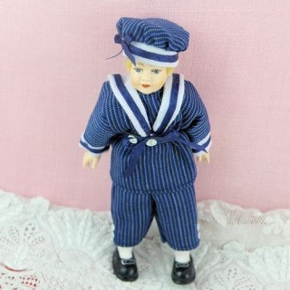 Miniature teenager character doll 1/12, luxurous and articuled