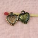 Coeur pendentif ciselé qualité lourde.16 mm.