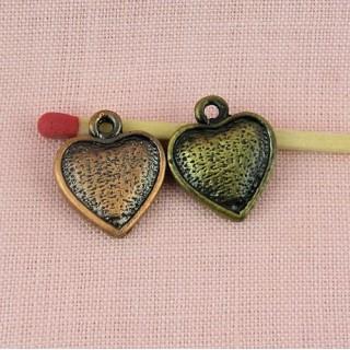 Heart pendant swirl 16 mms.