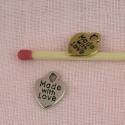 Coeur miniature, pendentif coeur, breloque coeur, poupée, 0,8 cm