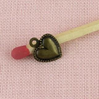 Anhänger kleines Herz Ohrgehänge 8 Millimeter