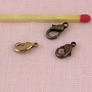 Jewelry findings, lobster clasp , 9 mms.