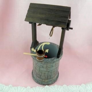 Tonneau bois miniature maison poupée bois 2 cm.