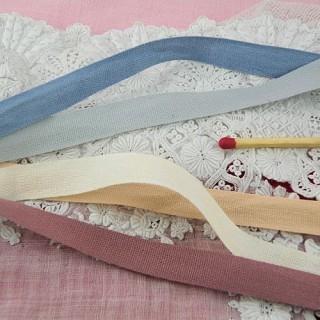 Ruban ancien pur coton 1 cm, 10 mm.