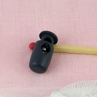 Miniature drawstring lock for doll