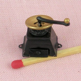 Moulin àcafé rétro miniature de poupée 2 cm 4 pièces