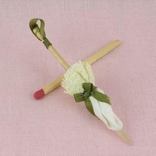 Ombrelle miniature décorative poupée, vitrine 6,5cm