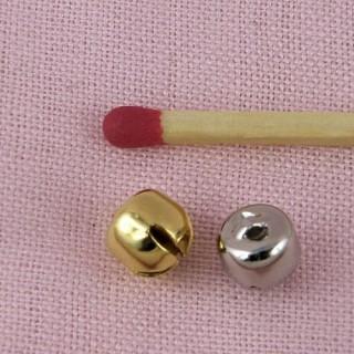 Grelot mini, clochette, poupée, 0,6 cm, 6 mm.