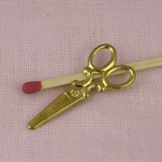 Ciseaux miniatures métal doré