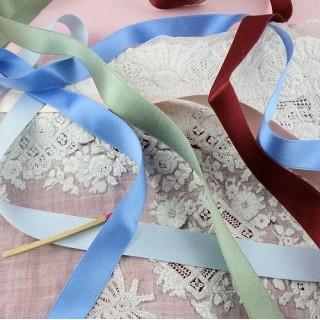 Silk Ribbon 15mm, 1,5cm, all colors