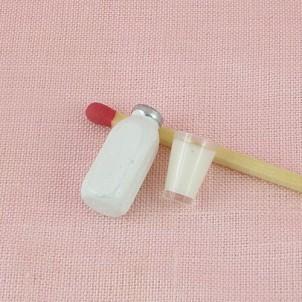 Bidon lait miniature maison poupée 25 mm
