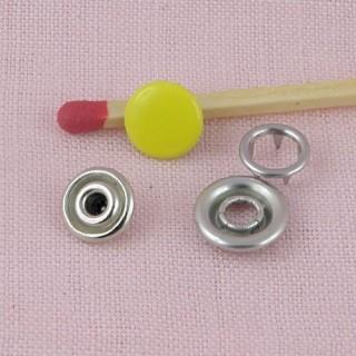 Colored mini snaps fastener miniature for doll 8mm