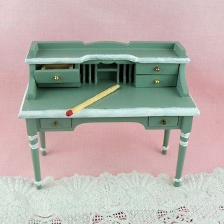 Miniature writing desk, with a chair