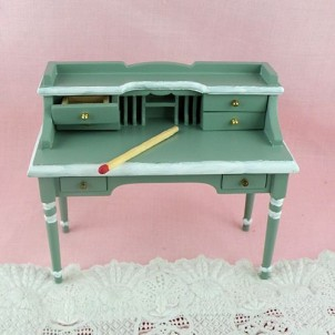 Bureau secrétaire miniature maison de poupée