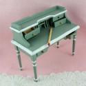 Bureau, pupitre miniature avec chaise, maison de poupée