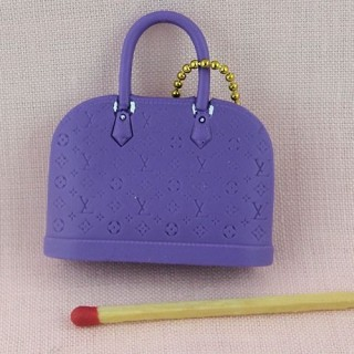 Designer purse miniature for doll