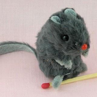 Fur Mouse miniature 5 cm,