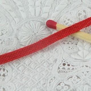 Mini Ruban coton, lacet plat étroit, galon poupée,  3 ,6 mm.