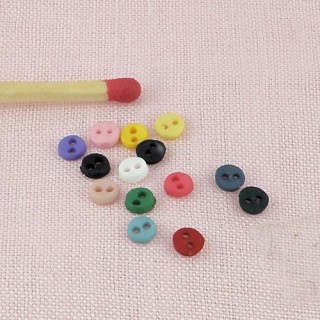 Botones minúsculos dos hoyos 4 mm,