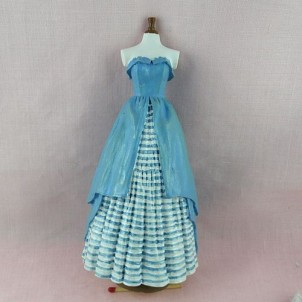 Victorian dress model doll, miniature sewing
