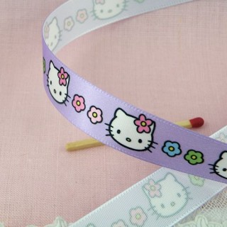 Hello Kitty ribbon 15 mms.
