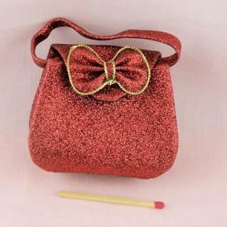 Sac àmain à rabat miniature poupée 6 cm