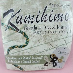 Kumihimo plaque et fils 15 cm